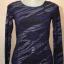 BOSSINI Style เสื้อยืดแขนยาวสีม่วง blueberry ลายริ้วสีดำ/บรอนซ์เงิน ทรงเข้ารูป thumbnail 3
