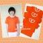 ขายส่ง ไซส์ L เสื้อกีฬาสีเด็ก เสื้อกีฬาเปล่าเด็ก เสื้อกีฬาสีอนุบาล สีส้ม thumbnail 2
