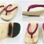 New Geta-02 รองเท้าเกี๊ยะทรงเตี๊ย ไม้ธรรมชาติ เชือกสีบานเย็นอ่อน thumbnail 5
