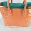 JASPAL กระเป๋าสะพายหนัง PU TOTE +CRYSTAL/PIECED Togethe สีส้มพีท thumbnail 11