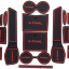 Slot Mat แผ่นยางรองในช่องรถยนต์ Nissan X-Trail thumbnail 2