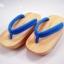 FitGeta-05 รองเท้าเกี๊ยะไม้ธรรมชาติเชือกฟ้า thumbnail 1