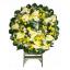 พวงหรีดดอกไม้สดขาวล้วน thumbnail 2
