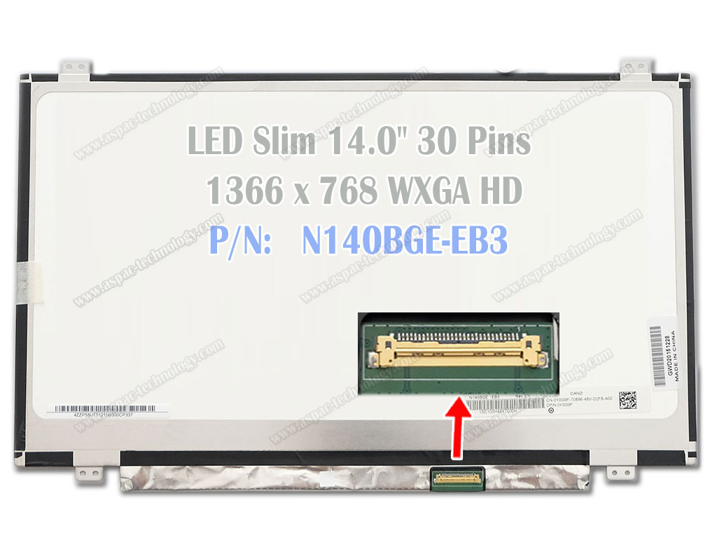 Led Panel 140 Slim 30 Pin Keyboard Acer E14 Es1 411 E1 410 410g 422 422g