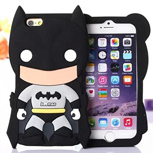 3D Cartoon Batman Batbear Soft Rubber Silicone Case Cover For iPhone 6/6s