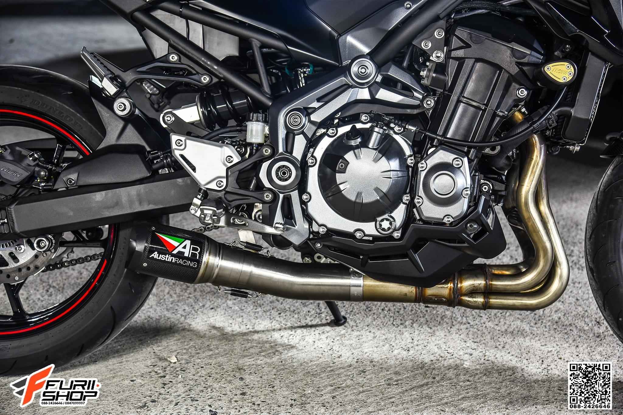 ท่อ AUSTIN RACING GP1R CARBON FOR KAWASKI Z900 : Inspired by